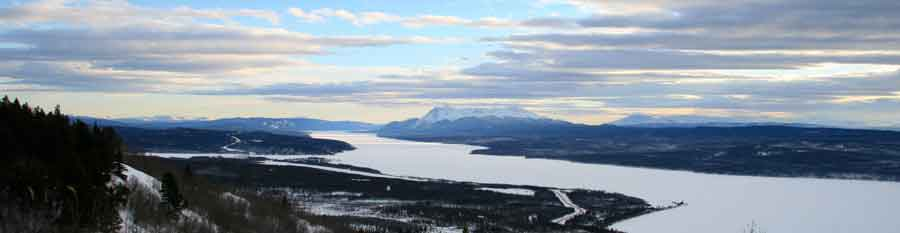 Teslin Lake panorama photo